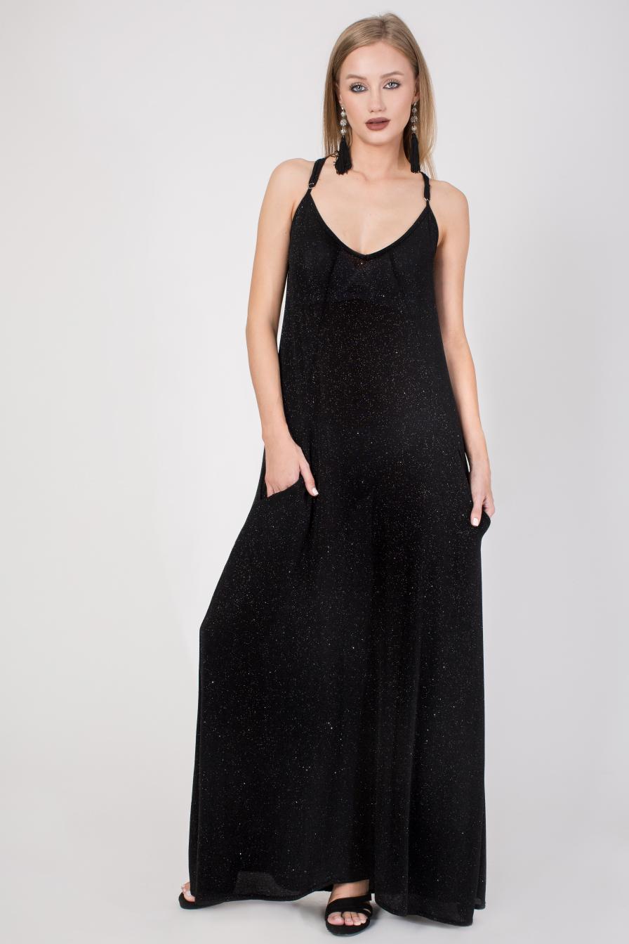 שמלה שחורה מקסי