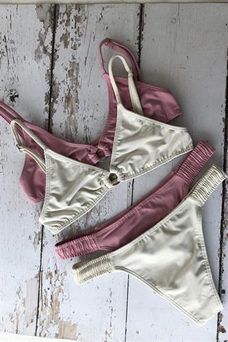 בגד ים ברזילאי - הצבע לבחירתך (טופ ויק/תחתון רובי)