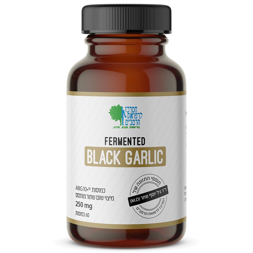 שום שחור מותסס בריכוז כפול (מוצר פטנטי) 500 מג לכמוסה