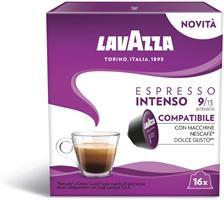 16 קפסולות לוואצה למכונות דולצה גוסטו Lavazza Espresso Intenso Dolce Gusto