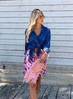 חצאית פרחים פינק