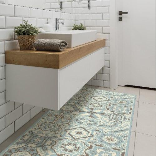 שטיח פי.וי.סי תכלכל עדין  TIVA DESIGN קיים בגדלים שונים