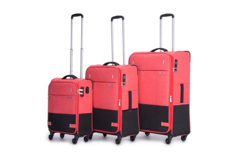 סט 3 מזוודות בד איכותיות  SWISS LUXE עם מנעול TSA