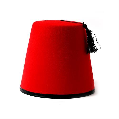 כובע תרבוש אדום חלק גבוה