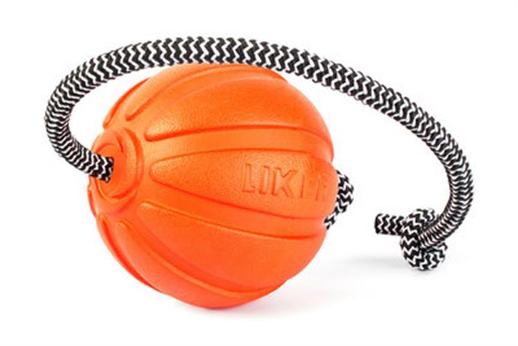 LIKER 5 כדור עם חוט לגורים וכלבים מגזעים קטנים