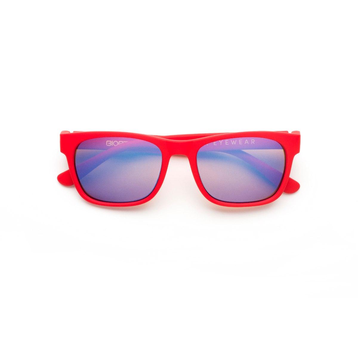 משקפי היפרלייט (נגד קרינה) לילדים, דגם THE-0402RD MRBU מסגרת אדומה