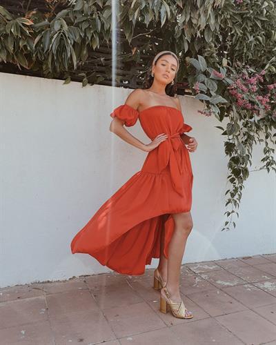 שמלת לוטם - אדומה