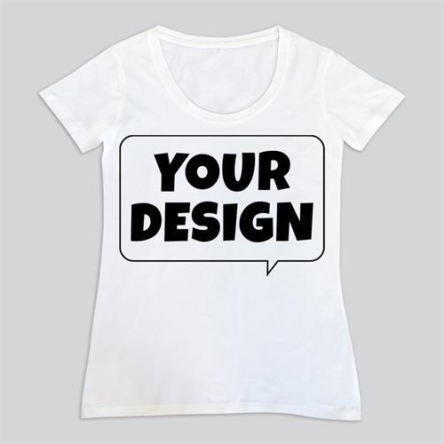 חולצת טי לבנה נשים