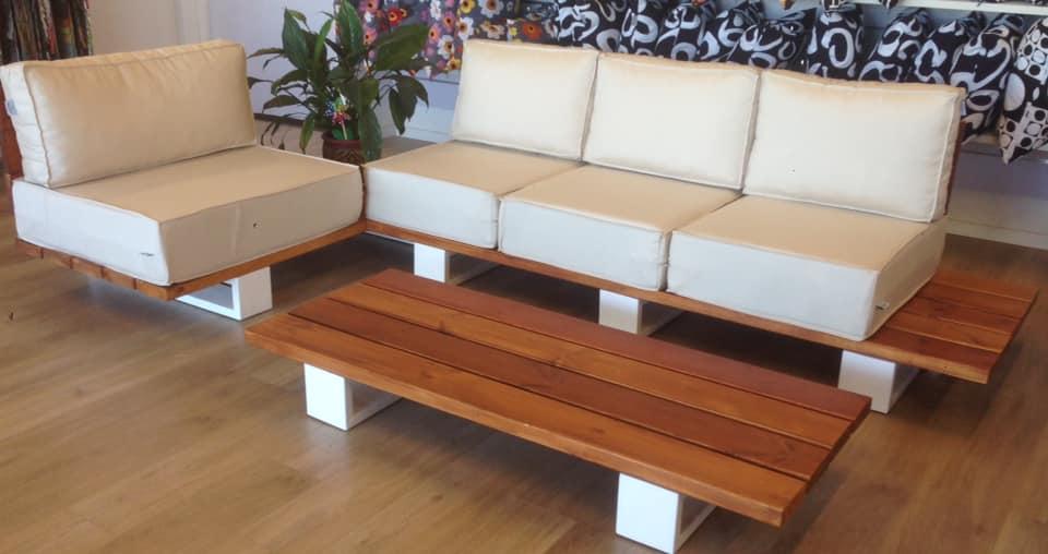 מערכת ישיבה עץ מלא