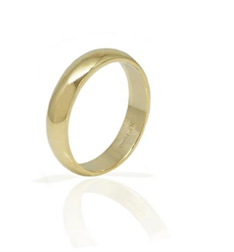 טבעת נישואין מעוגלת חלקה לגבר