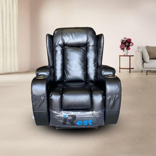 כורסת טלוויזיה עור שחור חשמלית TV-280