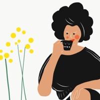 """אשה לוגמת קפה בנחת - מתוך """"החיים יפים"""", הסדרה האופטימית."""
