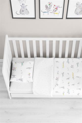 סט מצעים למיטת תינוק דגם פאטס ורדינון גרסי
