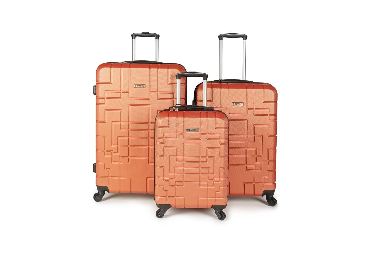 סט מזוודות איכותי AMERICAN EXPLORER- צבע כתום