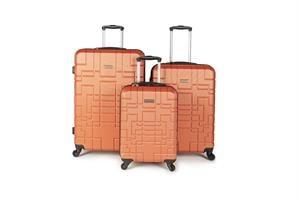 כולל משלוח מהיר לבית!!! סט מזוודות איכותי AMERICAN EXPLORER- צבע כתום