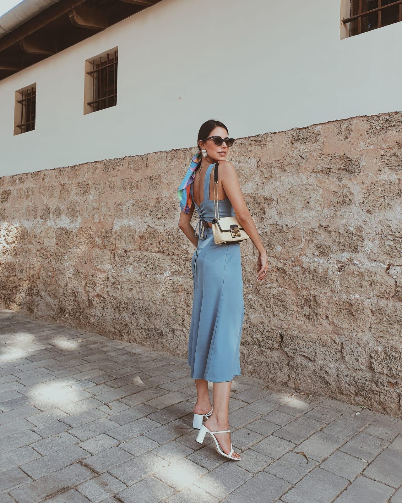 חליפת דריה - כחולה