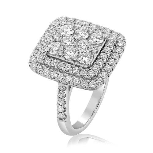 טבעת זהב 14 קראט משובצת 2.69 קראט יהלומים