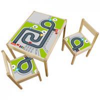 3 יח' טפט דביק מותאם לשולחן וכסאות (LATT)- מסלול מכוניות2