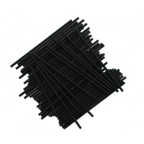 מקלות פלסטיק שחור ליצירה בשוקולד ובמרשמלו - 10 יחידות מקלות פלסטיק שחורים ליצירה חדש מאתי דבש