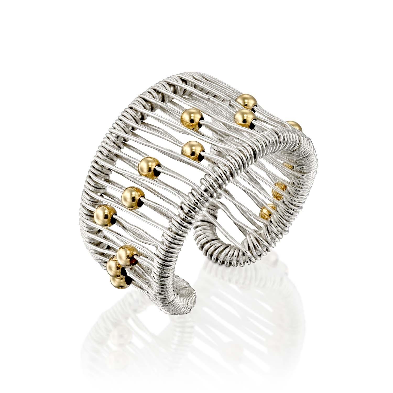 טבעת משי לבן