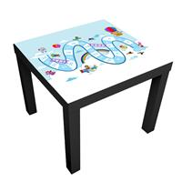 1 יח' טפט דביק מותאם לשולחן (LACK)- לוח משחק סולמות