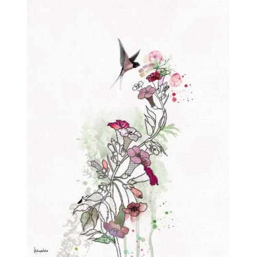 ציור מינימליסטי של פרח יפני