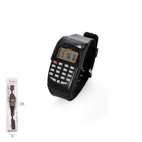 שעון יד מחשבון שחור