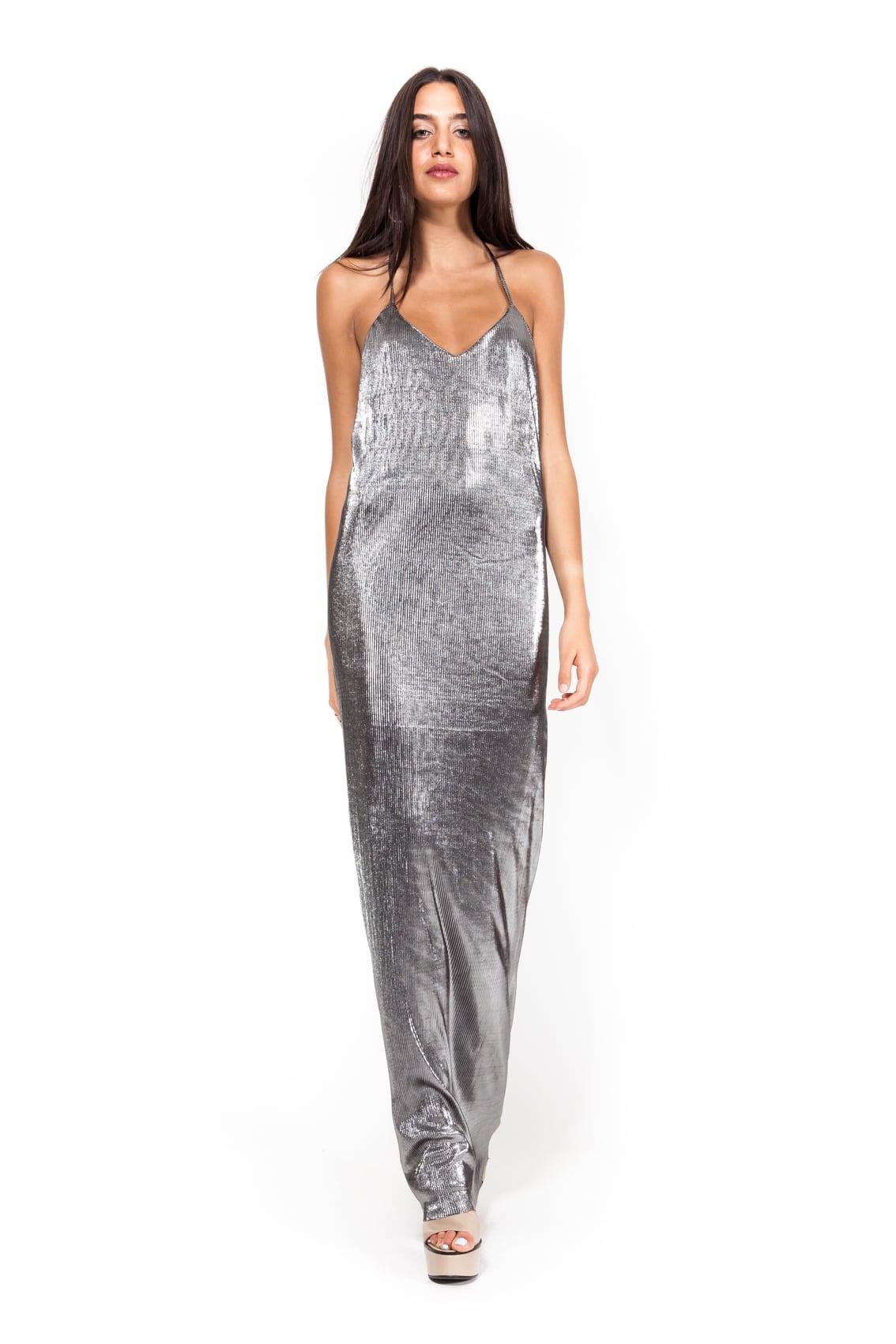 שמלת אוסקר גלאם כסף