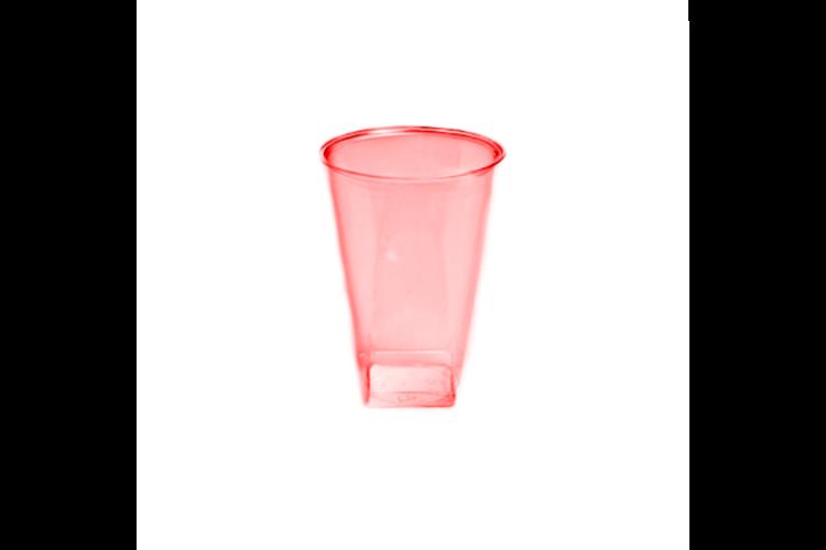 כוס קריסטל מרובעת 20 יח' - אדום