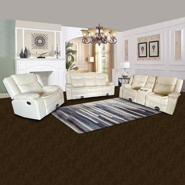ספה 1+2+3 מושבים ג'ק מרלו (עור בז ')