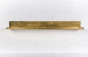 מדף מתכת צר ארוך זהב - מיוחד ליריד