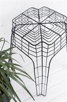 שולחן צד / כיסא-שרפרף שחור עשוי חוטי ברזל