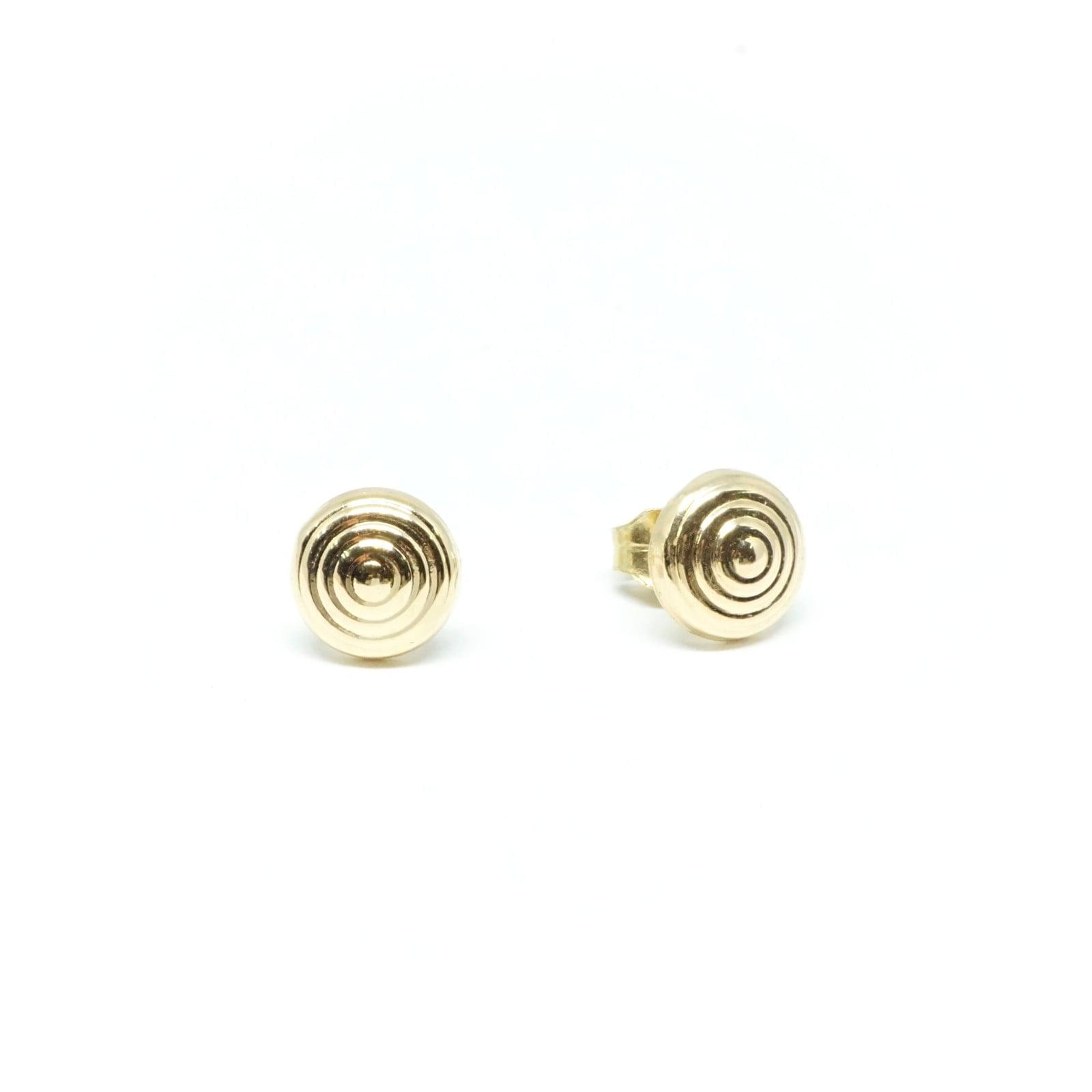 עגילי זהב צמודים  עגילים בעבודת יד  עגילים מעוצבים   עגילי ספירלה  עגילי כפתור   עגילים לכלה