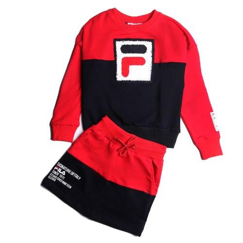 חליפת חצאית שחור/אדום FILA - מידות 6-16