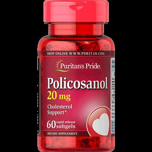 """-- פוליקוסנול -- 20 מ""""ג I מכיל 60 כמוסות רכות"""