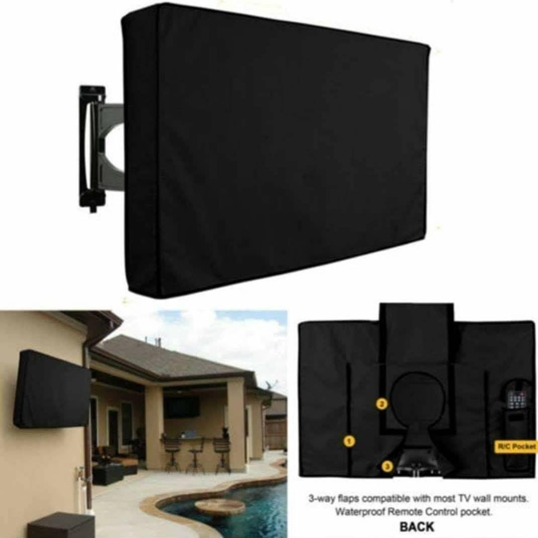 כיסוי מסך טלוויזיה חיצוני i-CUBE להגנה מפני אבק מים וחרקים מתאים לכל סוגי המסכים וכל מתקני התלייה