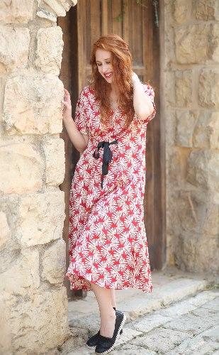 שמלת ג'ינגר אדומה