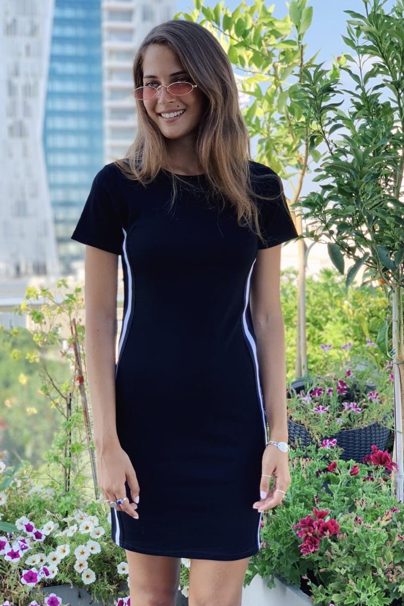 שמלת שראפובה פסים