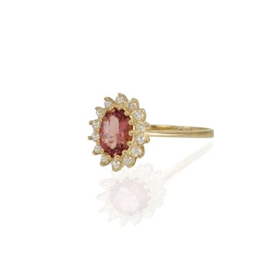 טבעת דיאנה זהב ויהלומים