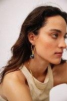 עגילי קמיל זהב פנינה פאני שייד