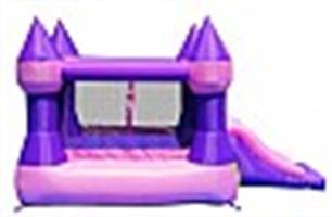 מתקן קפיצה הטירה עם מגלשה נסיכות - 9017 - Castle Bouncer With Slide Happy Hop