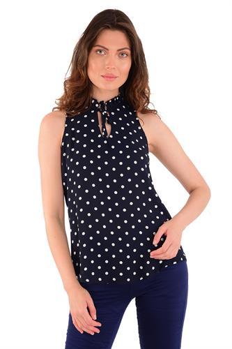 חולצת קייטלין כחול נקודות