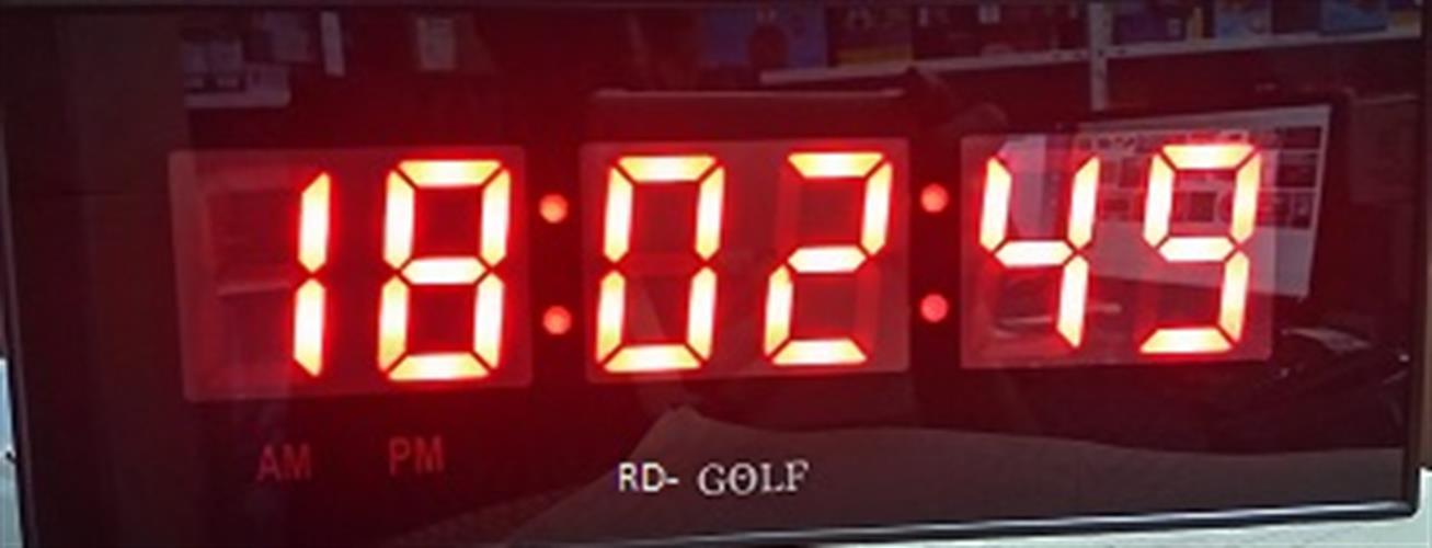 שעון קיר לד חשמלי גולף GOLF 3212