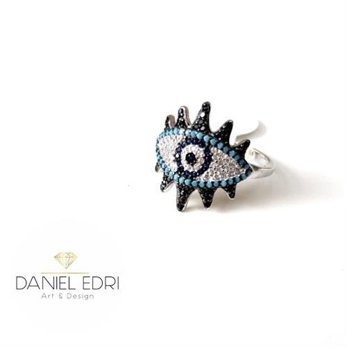 טבעת עין עם ריסים