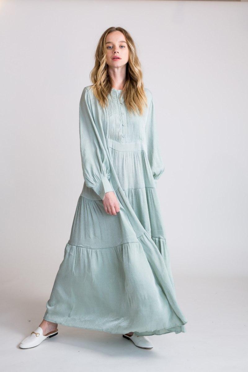 שמלת GOLD ירוק מנטה