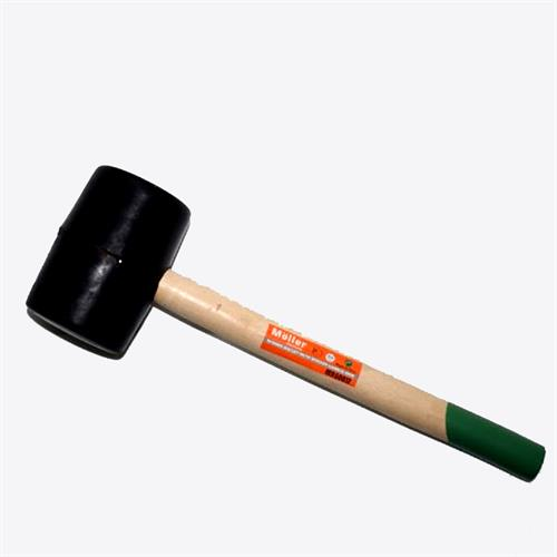 פטיש גומי לרצפים ידית עץ 450 גרם