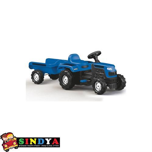 טרקטור פדלים + עגלה בצבע כחול 8046 - DOLU