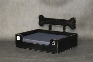 מיטה לכלב- בונזי M שחור ווש