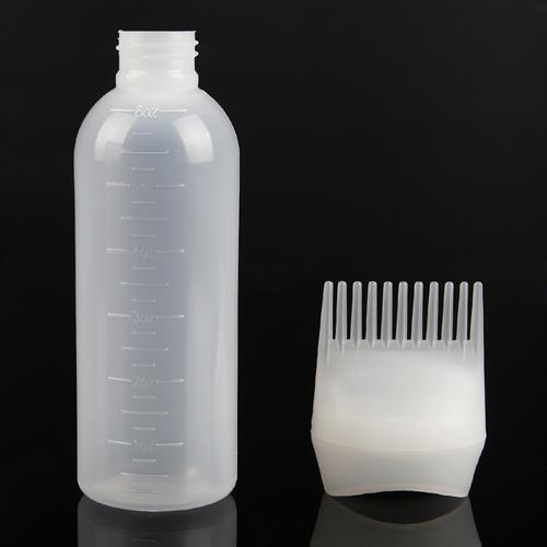 בקבוק צבע שיער שמפו עם מסרק משולב