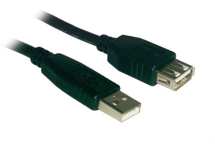 כבל מאריך USB 1m